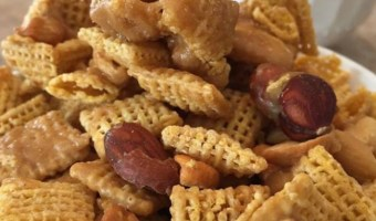 Microwave Caramel Chex Mix Recipe