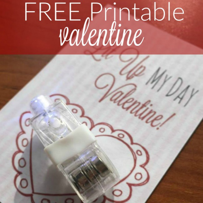 Are you on the hunt for a frugal non-food class valentine idea? These finger lights are SO much fun and they're about 9¢ each, so they're super cheap, too! Get the free Valentine's Day printable and the finger lights all right here: