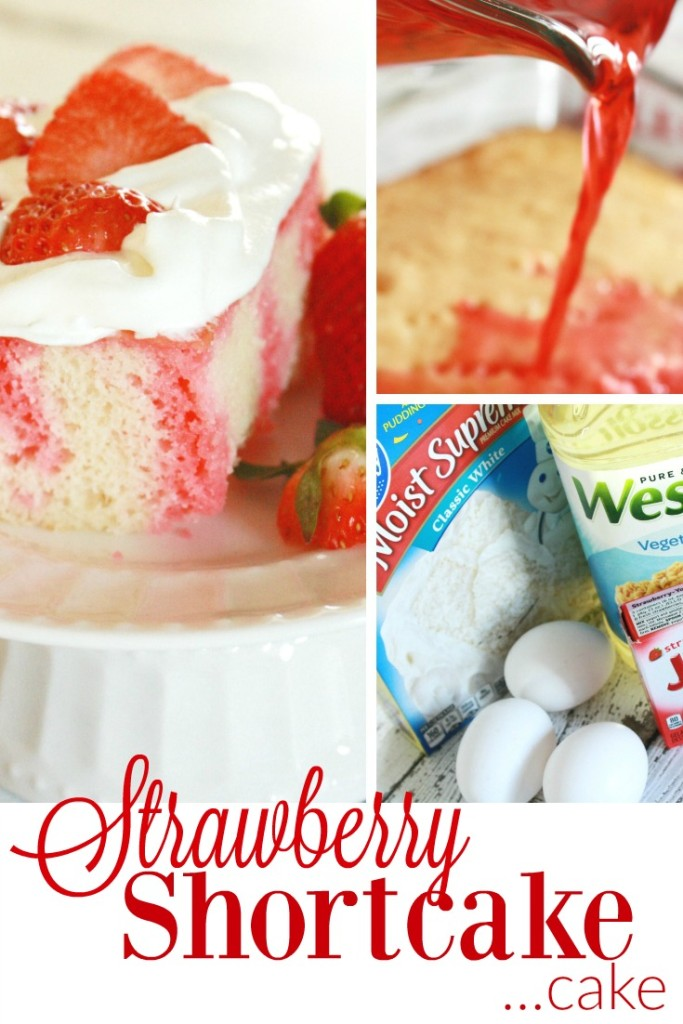 I made this strawberry shortcake cake recipe - whipped cream frosting and all for my mom's birthday - it's delicious and SO simple - less than 5 ingredients!