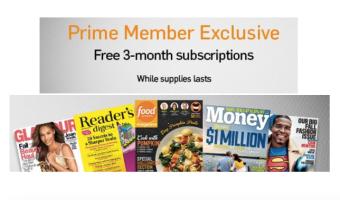 Amazon Prime Members = FREE Magazine Subscription!