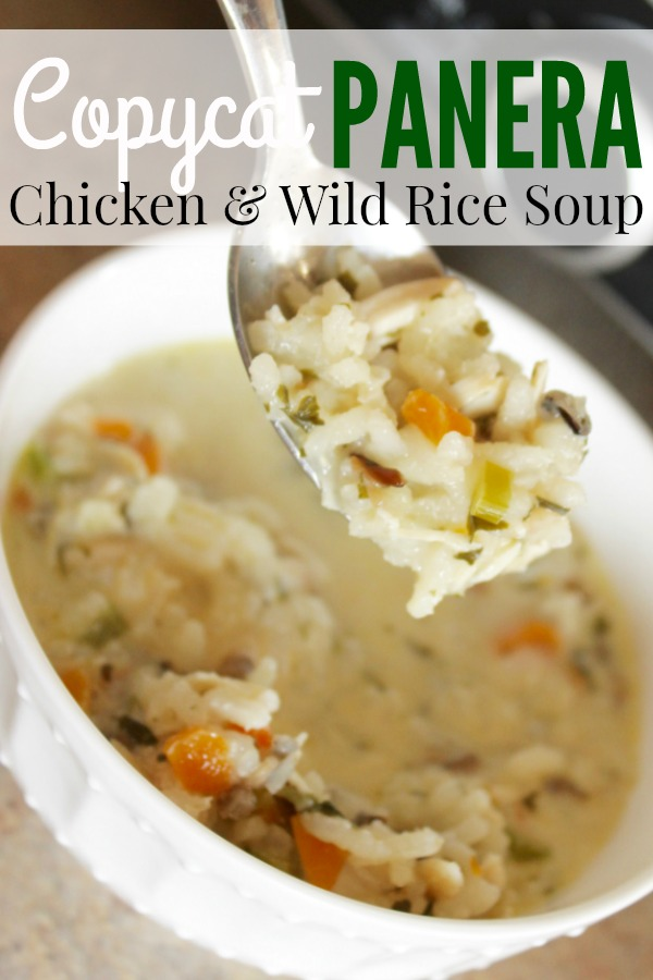Easy Chicken and Wild Rice Soup. This is so good and is such an easy dinner idea!