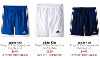 6pm.com: 15% Off Purchase, Adidas Kid's Shorts $8.49 Shipped!