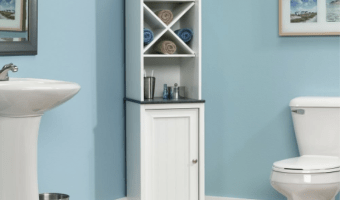 Sauder Linen Tower Bathroom Cabinet at a GREAT Price!