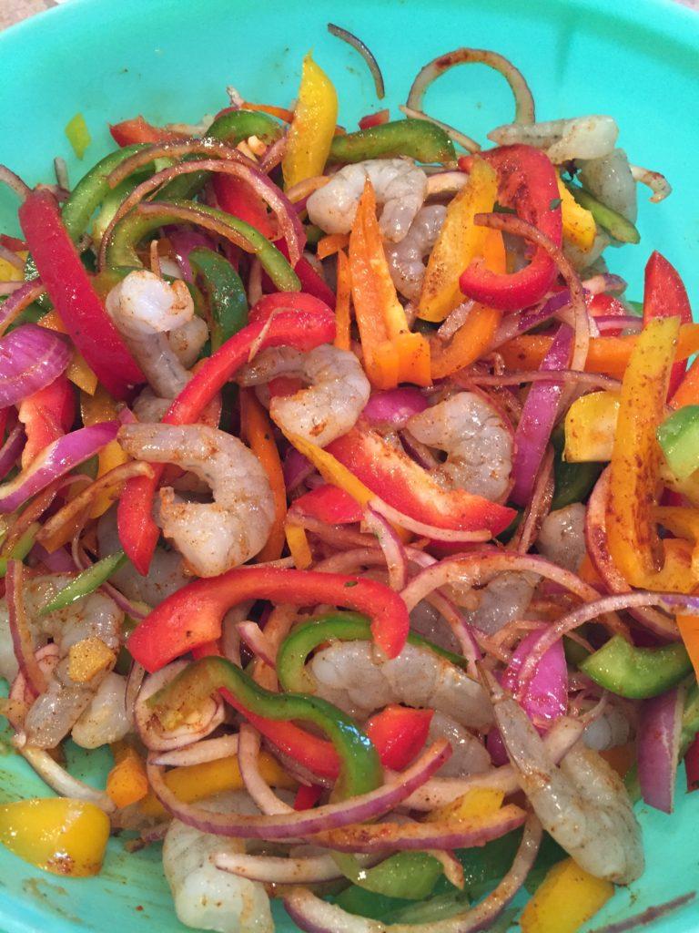 Mexican Shrimp Fajitas Recipe
