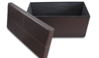 Folding Storage Ottoman Bench just $26.50