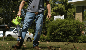 Highly Rated Greenworks Electric Leaf Blower $14.71 (Reg. $49.99!)