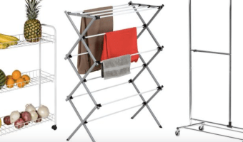 Honey Can Do 3-Tier White Laundry Cart $10.07 + More Home Organization Deals!