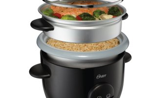Over Half Off Oster 6 Cup Rice & Grain Cooker with Steam Tray