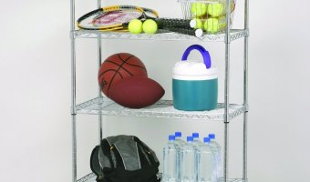 45% Off Seville Classics 5-Tier Steel Wire Shelving With Wheels