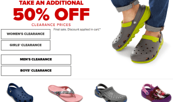 *HOT* Crocs Shoe Sale | Crocs Shoes Starting at $7.49!