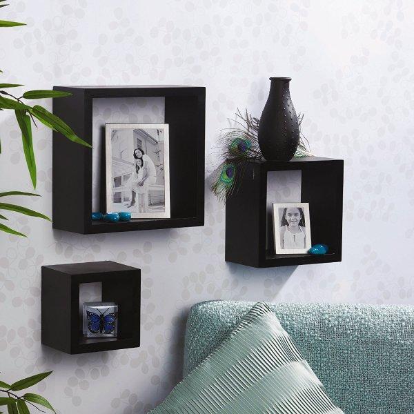 Melannco Square Wood Shelves
