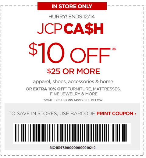 10 Jcpenney Printable Coupon May 2018