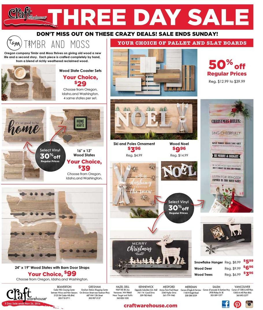 Craft Warehouse Black Friday Ads Sales And Deals 2017