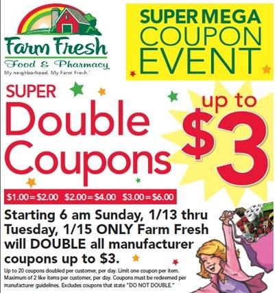 Farm Fresh Super Double Coupon event
