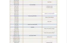 SmartSource 2013 Insert Schedule