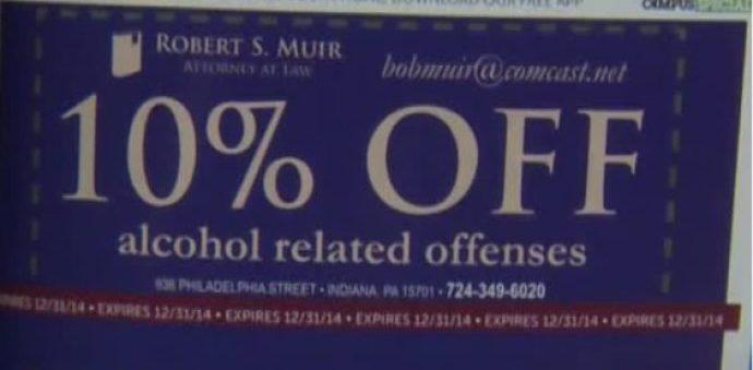 Alcohol coupon
