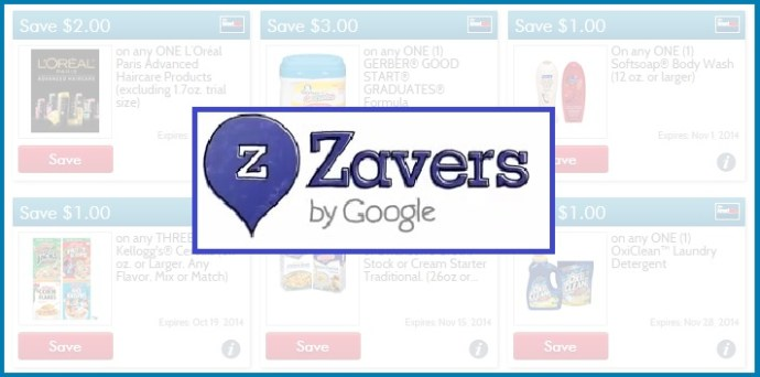 Zavers coupons