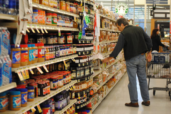 grocery shelves photo