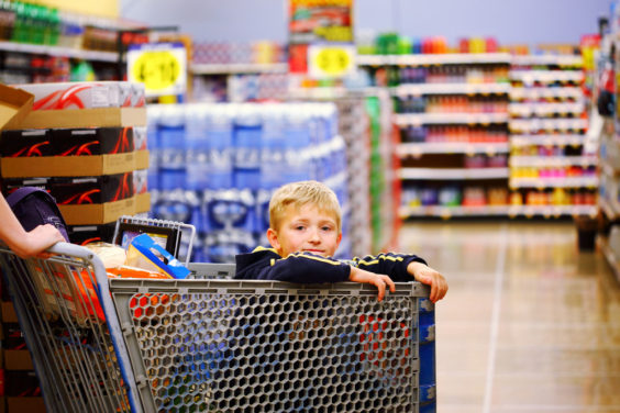 children grocery photo