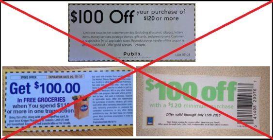 Fake coupons