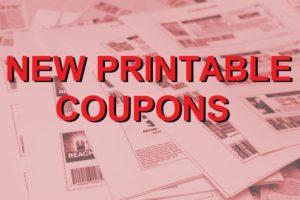 New Printable Coupons – 9/20/20