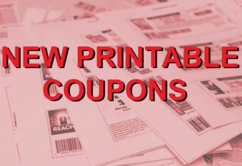 New Printable Coupons – 4/11/21