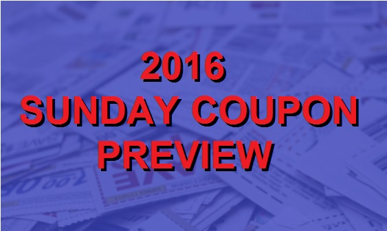 2016 Sunday Coupon Preview