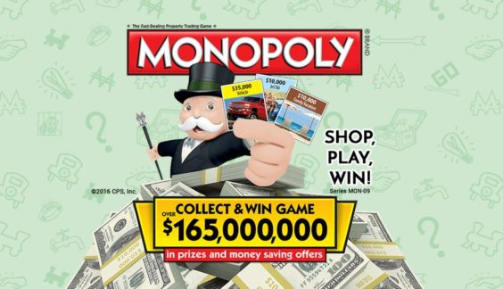 image regarding Albertsons Monopoly Game Board Printable named 2016 Albertsons Monopoly Discounts Substantial Prizes, At Astronomical