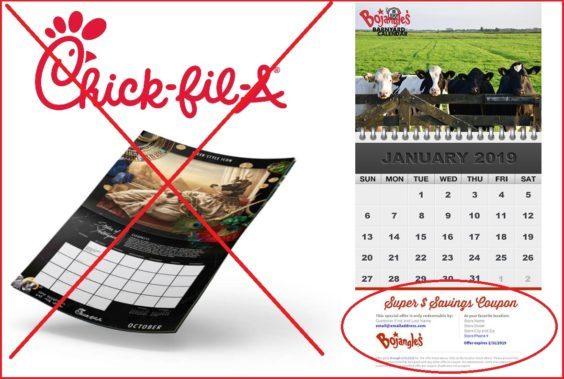 chick fil a calendar august 2019