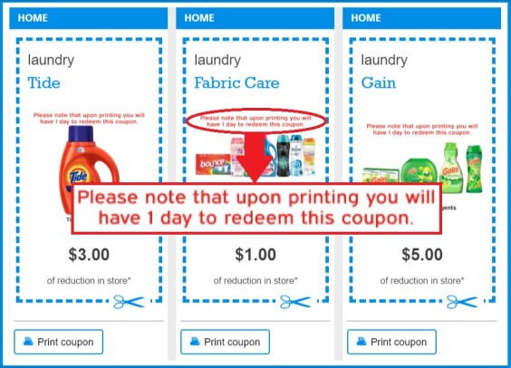 9cf8ac0ea568 Next time you want to print a coupon to use on your favorite Procter    Gamble product – better act fast. If you don t go shopping within a day  after ...