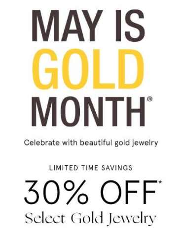 30 off select gold