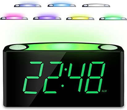 53 off digital alarm clock with 7 color night light