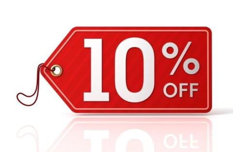 10 off any order 1