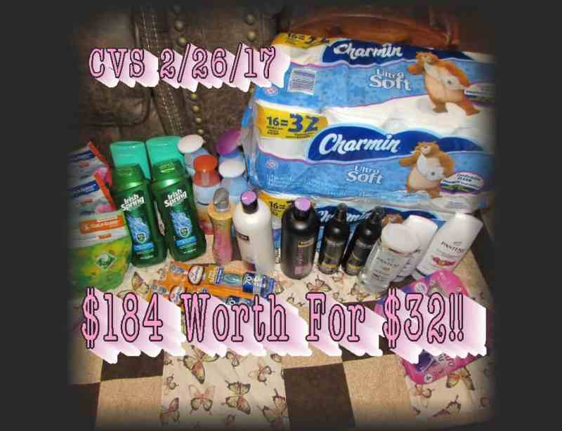CVS Coupon Haul For 2/26/17! $184.33 Worth for $32.62!