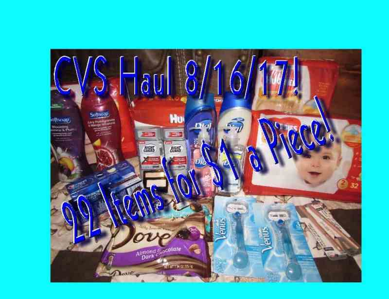 My CVS Haul for the week of 8/6/17! 22 Items for $23!
