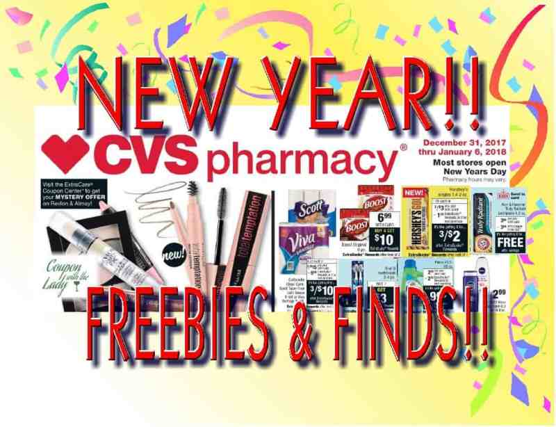 CVS Freebies and Finds for the Week of 12/31/17!! Happy New Year!!