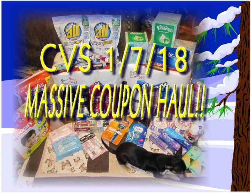 CVS Week of 1/7/18 MASSIVE Coupon Haul!!! Only $0.65 Per Product!!!