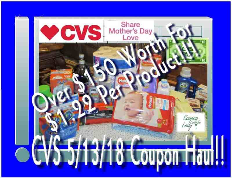 CVS 5/13/18 Coupon Haul Worth Over $150 for Only $1.22 Per Product!