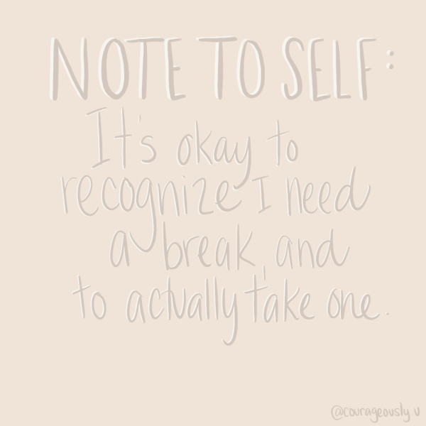 Procreate note to self quote created by courageously.u
