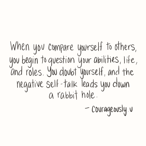 Quote about comparison created by courageously.u on procreate