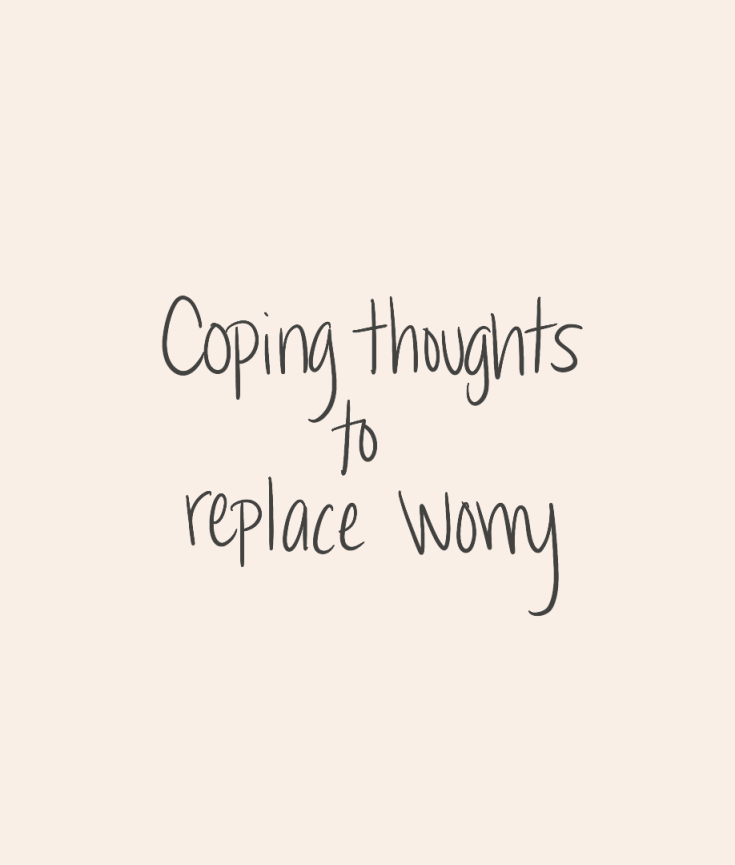 Coping thoughts to replace worry created by courageously.u