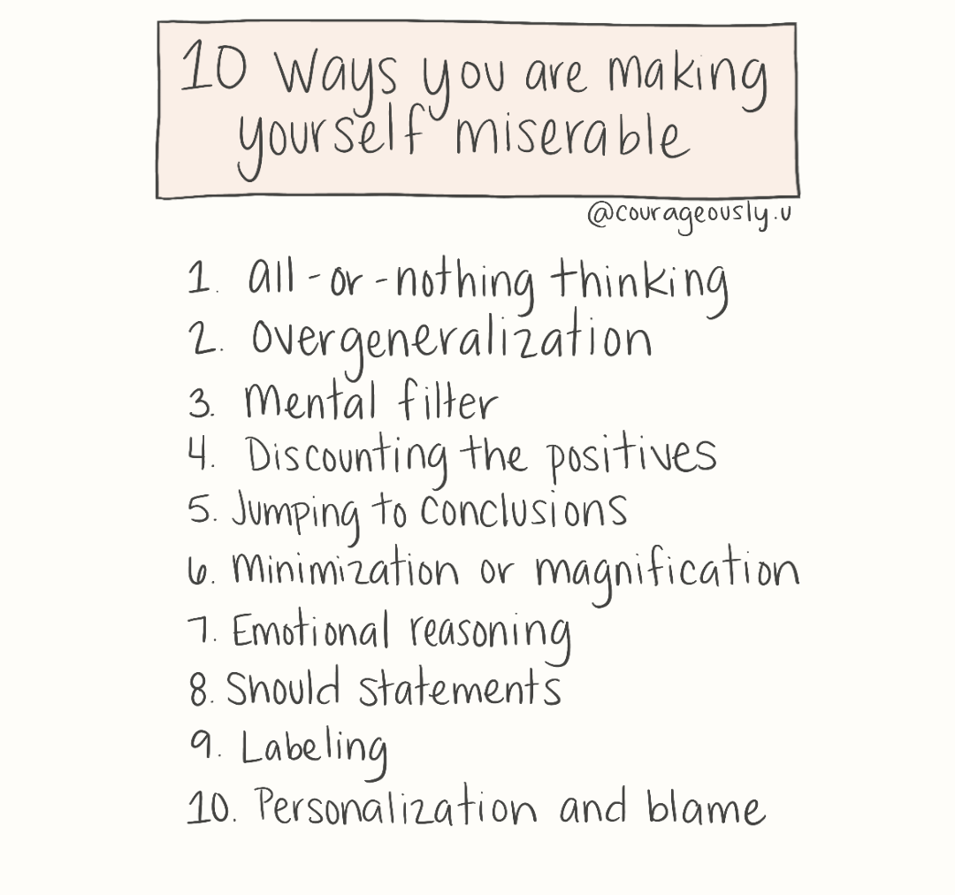 10 Ways You Are Making Yourself Miserable