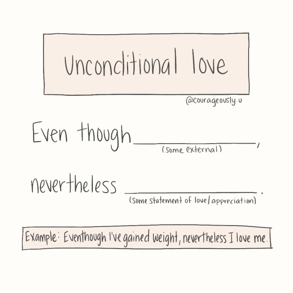 Exercise for unconditional love hand drawn by courageously.u