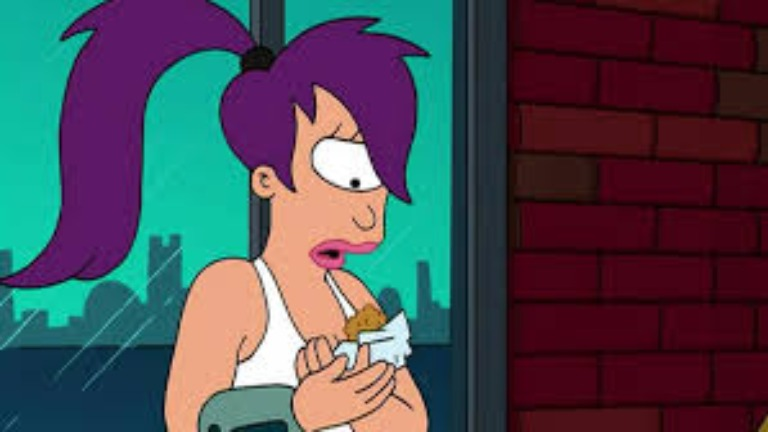 Cartoon characters Leela