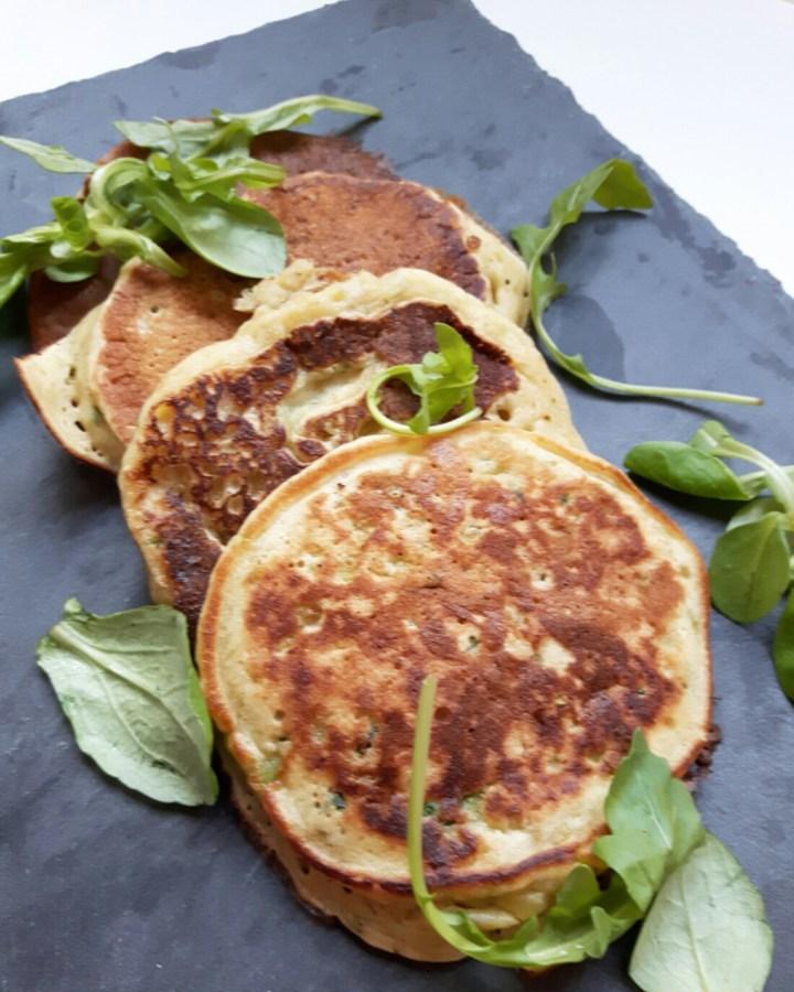 Pancakes vegan aux courgettes