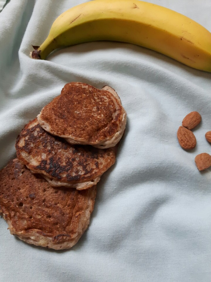 Pancakes vegan à la banane et amande