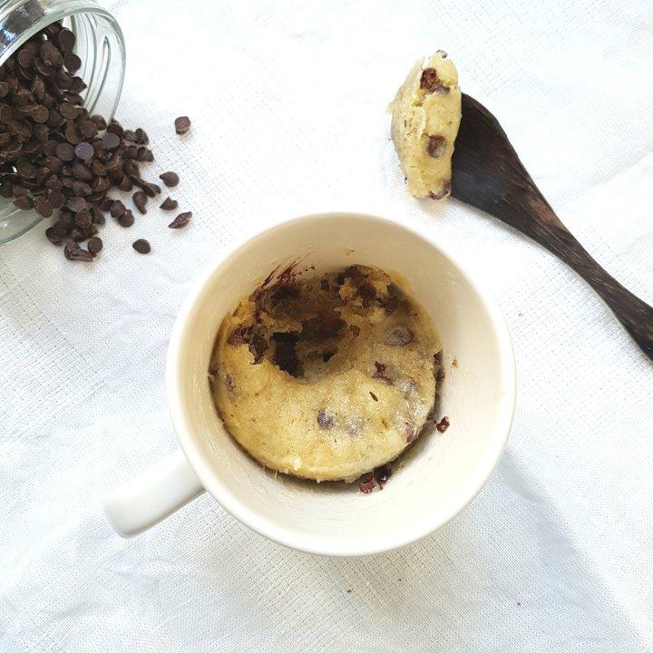 Mug cake aux petites de chocolat