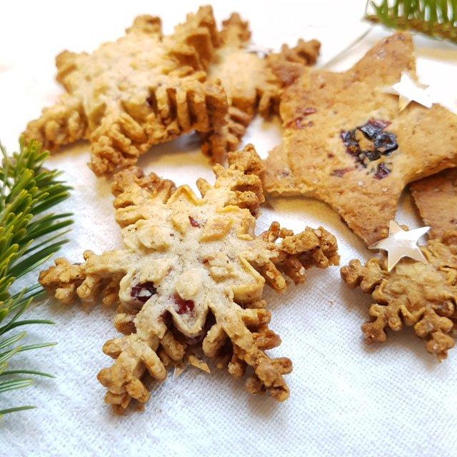 Petits biscuits aux saveurs d'hiver et cranberries