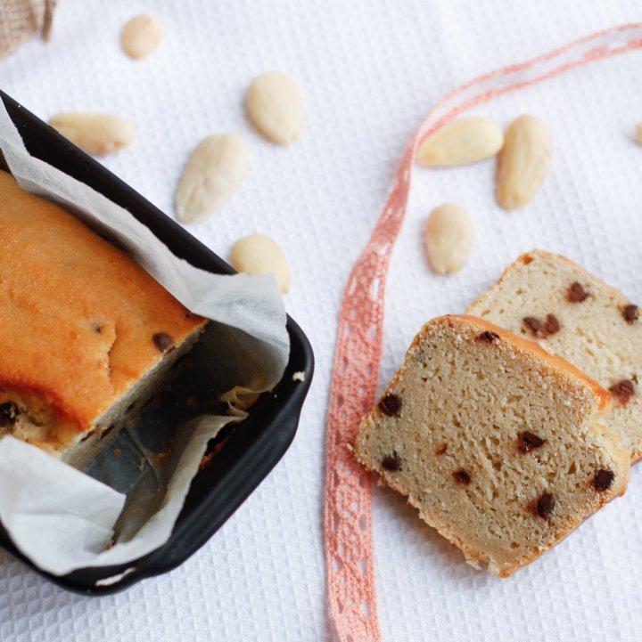 Cake amandine aux pépites de chocolat