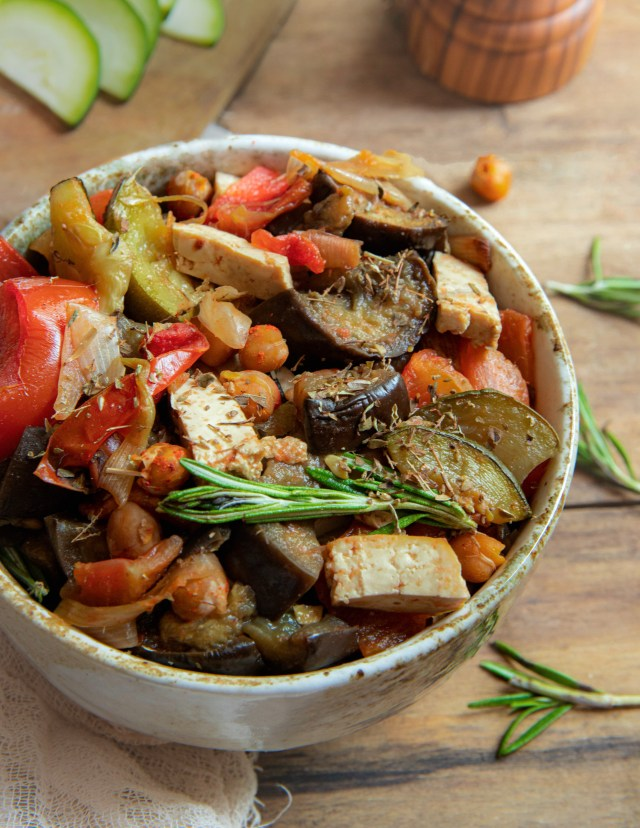 Ratatouille au four et au tofu